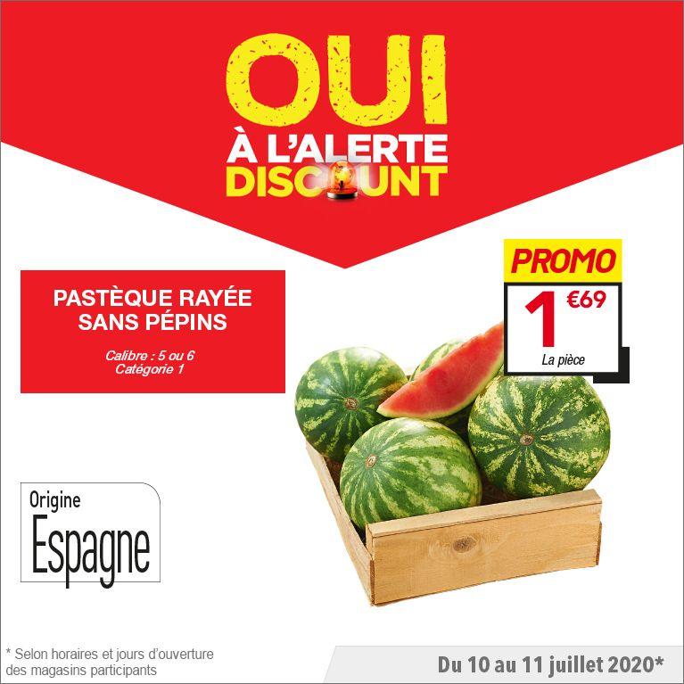 Pastèque rayée sans pépins - Calibre 5/6 (Origine Espagne - Catégorie 1)