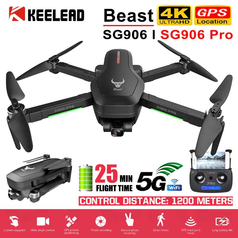 Drone pliable ZLRC SG906 Pro - 4K, GPS, ESC 50x