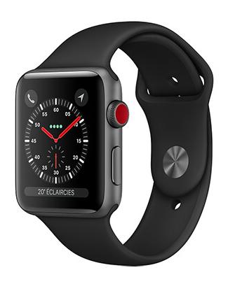 Montre connectée Apple Watch Série 3 (via ODR de 60€)