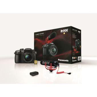 Appareil photo Panasonic GH4R, Objectif Lumix 12-60 mm F3.5-5.6, Rode VideoMic Go, Batt. supp, SD 32 Go