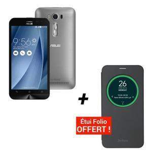 "Smartphone 5"" Asus Zenfone 2 ZE500KL 8Go 4G (plusieurs coloris) + Etui folio noir"