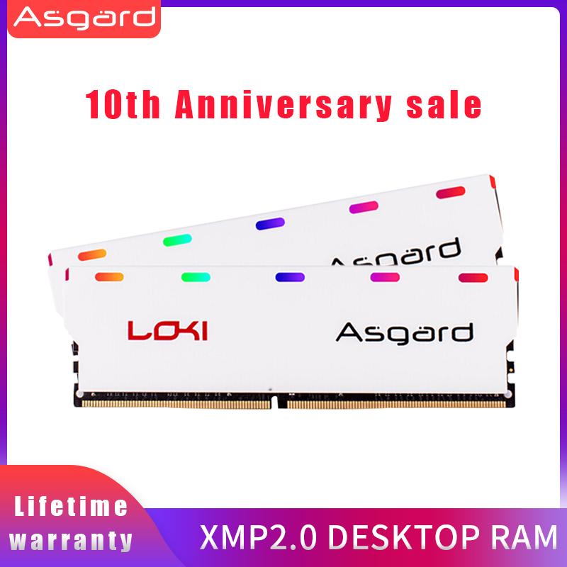 Kit Mémoire RAM Asgard W1 Série RGB 16Go (2x8Go) - DDR4 3200MHz CL16, 1.35V