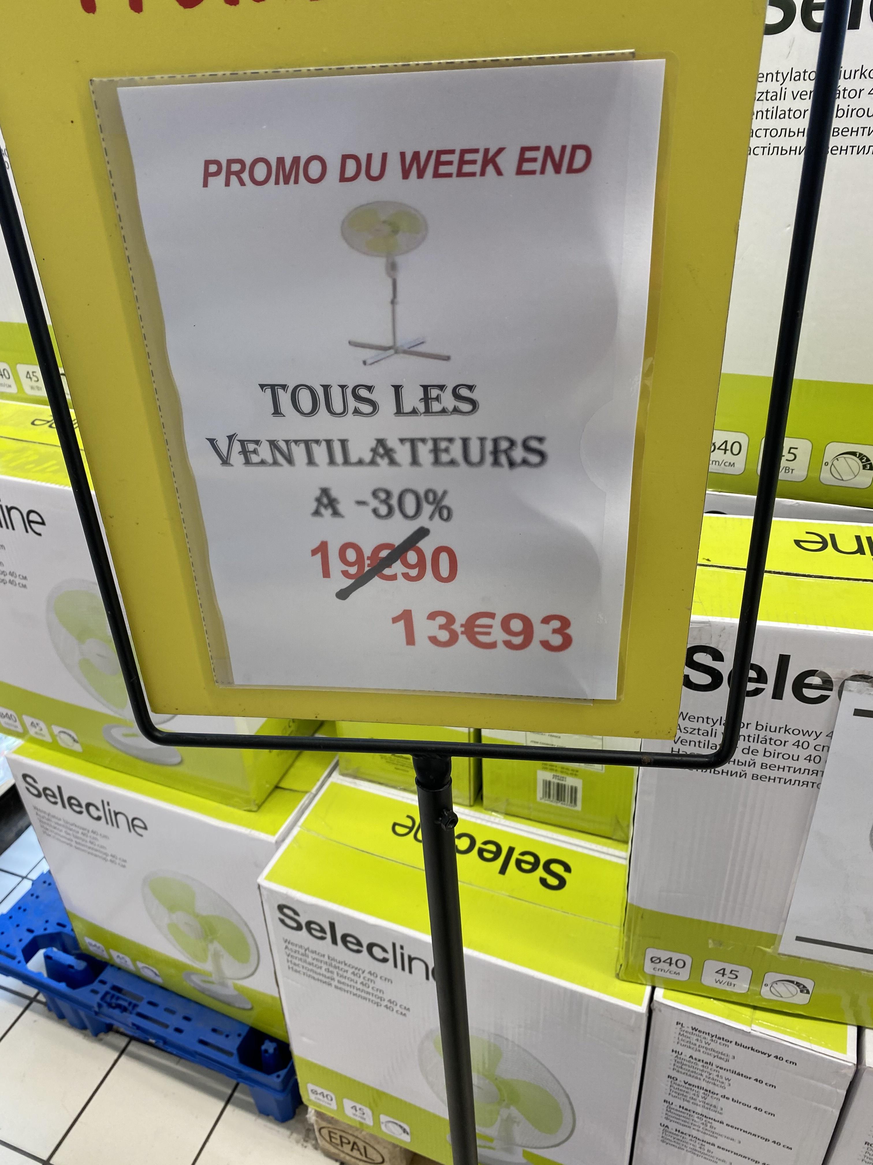Ventilateur Selecline sur pied et de bureau (Lyon 69008)