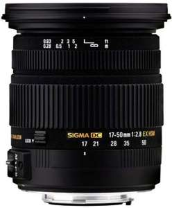 Objectif Sigma 17-50mm F2.8 DC OS HSM EX - Monture Canon