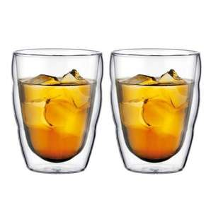 2 verres Bodum double paroie 25cl transparent