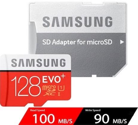 Carte mémoire MicroSDXC Samsung Evo Plus - 128 Go + Adaptateur (vendeur tiers)