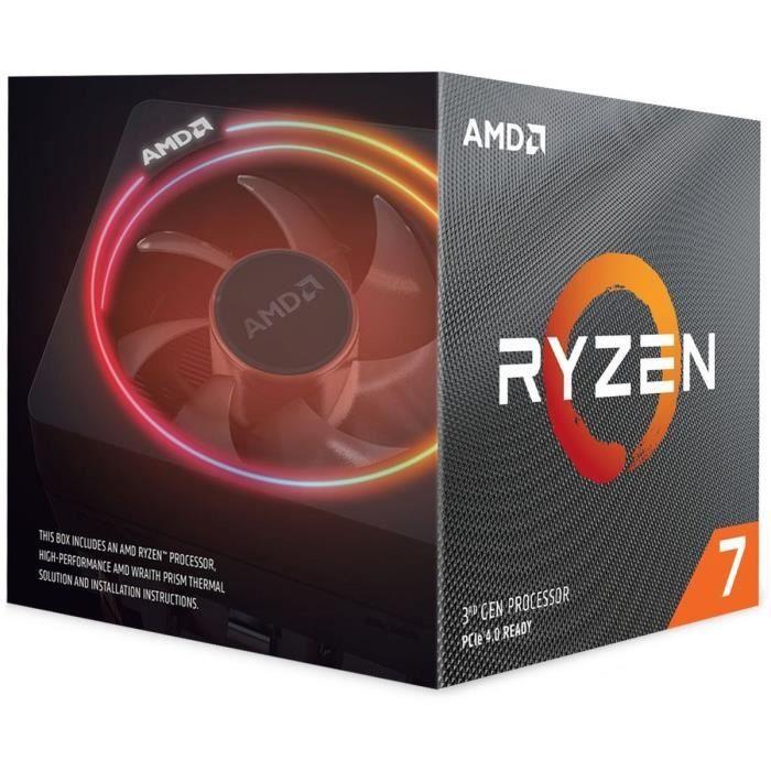 Processeur AMD Ryzen 7 3700X Wraith Prism + Assassin's Creed Valhalla sur PC (Dématérialisé)