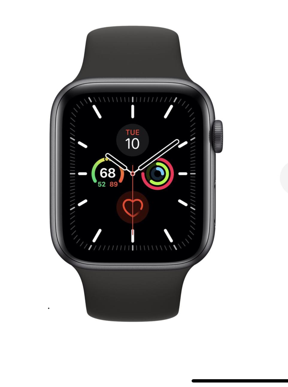 Montre connectée Apple Watch Series 5 (GPS) - 44 mm, Noir Sport