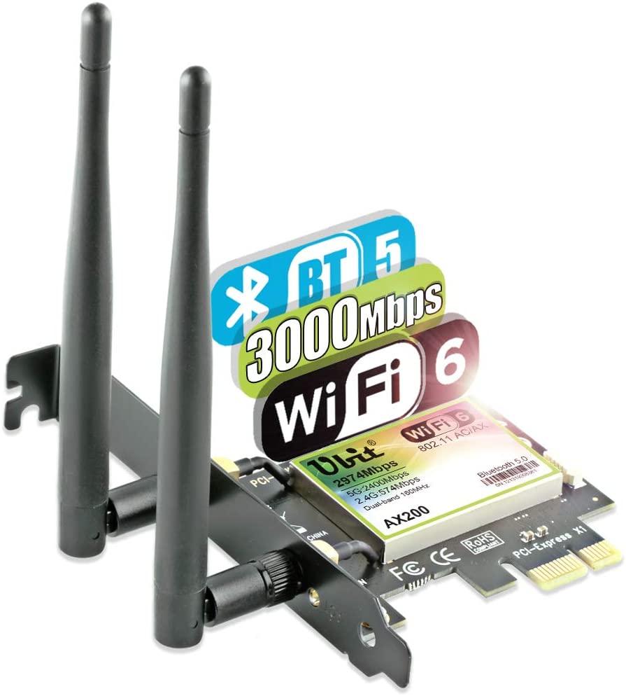 Carte Réseau PCI-E AX WiFi - Bluetooth (Vendeur tiers)
