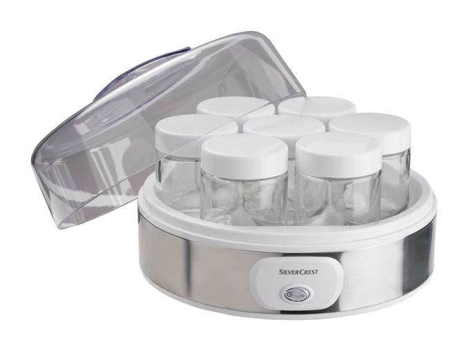 Yaourtière Silvercrest - 7 pots en verre de 180 ml