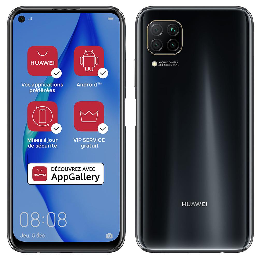 "Smartphone 6.4"" Huawei P40 Lite - Full HD+, Kirin 810, RAM 6 Go, 128 Go, Noir, Sans Services Google (+ 19.95€ en SuperPoints)"