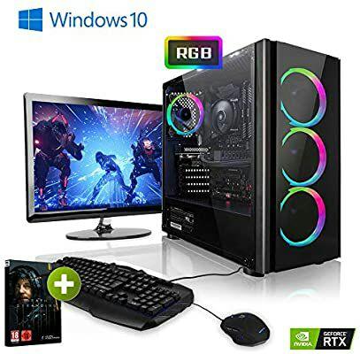"""PC Megaport - Ryzen 7 2700X, Nvidia GeForce RTX2060 Super 8Go, 16Go de Ram, 240Go SSD + 1To avec Ecran 24"""", Clavier + Souris (Vendeur Tiers)"""