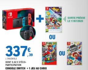 Console Nintendo Switch + 1 jeu au choix parmi une sélection