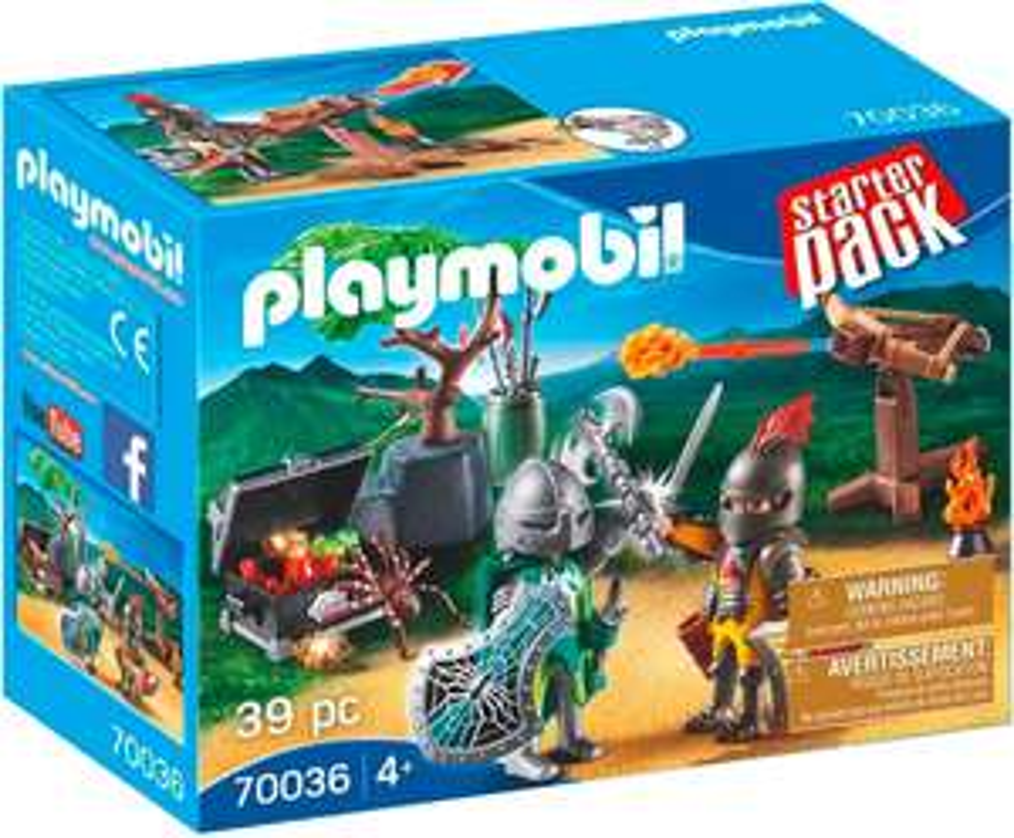 Boîte de Playmobil StarterPack Duel de chevaliers n°70036