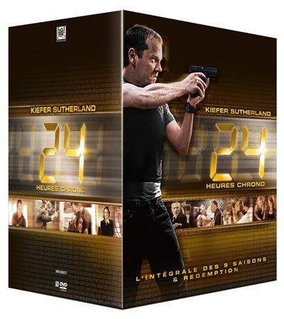 Coffret DVD 24 Heures Chrono - L'intégrale des 9 saisons + Redemption (53 DVD)