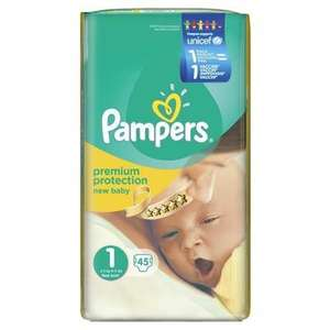 pack de 45 couches Pampers  New Baby Taille 1 = 2 à 5 Kg