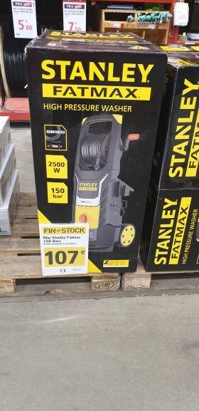 Nettoyeur Haute Pression Stanley - 2500W, 150 bar, 450l/h moteur induction, corps laiton et grande roues - Metz (57)