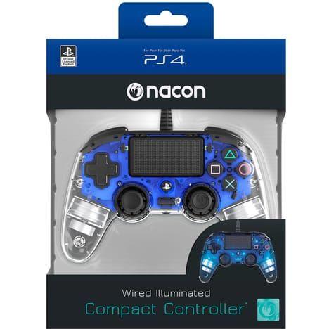Manette filaire PS4 Nacon - Lumineuse bleue ou rouge