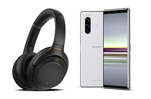 "Pack smartphone 6.1"" Sony Xperia 5 (WQHD+, SnapDragon 855, 6 Go de RAM, 128 Go, gris) + Casque audio Sony WH-1000XM3"