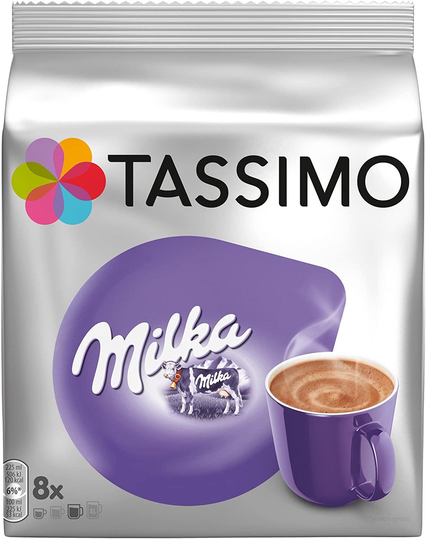 Pack de 5 Sachets de 8 Dosettes Tassimo Chocolat Milka (40 Dosettes)
