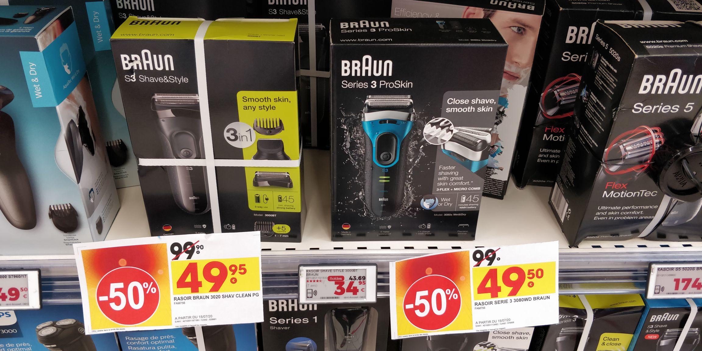 Rasoir électrique Braun 3020 SH1V CLEAN PG (Angers 49)