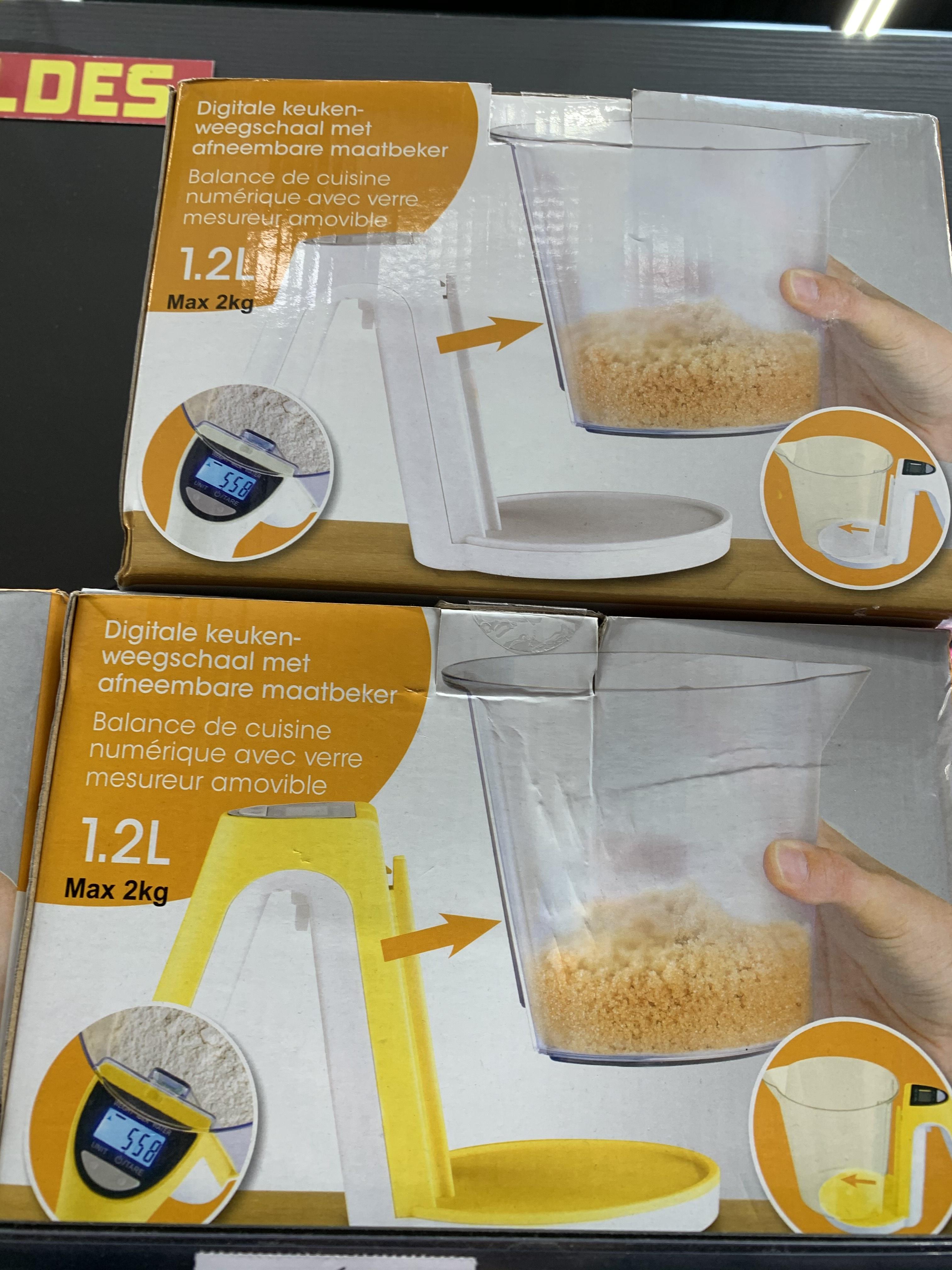 Balance de cuisine numerique avec verre doseur 1,2L. Piles fournies - Fontenay le Comte (85)