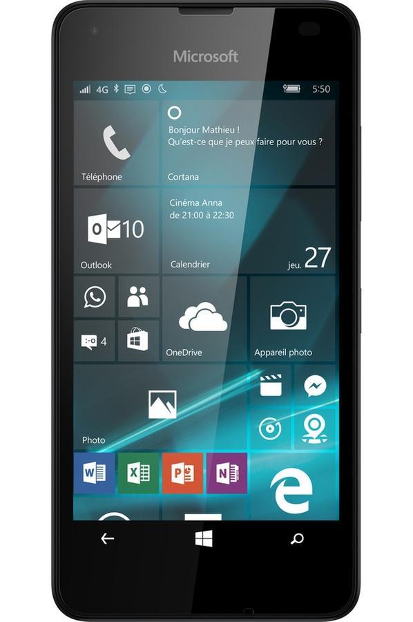 Microsoft Lumia 550 + Carte Micro SD Samsung Evo Plus - 32 Go