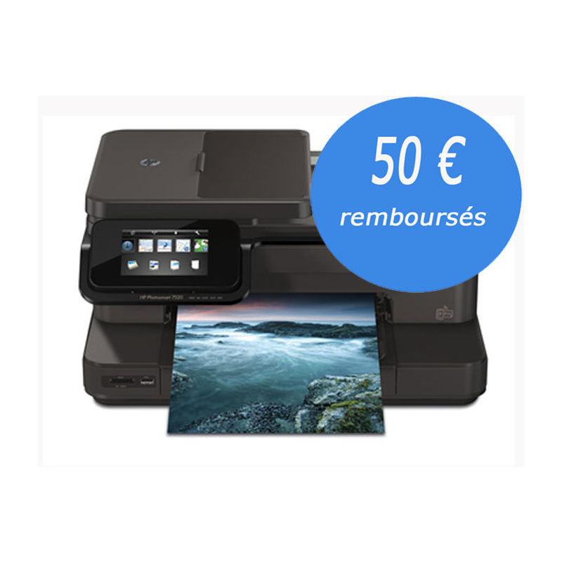 Imprimante jet d'encre multifonction wifi HP Photosmart 7520 [Remise immédiate + ODR]