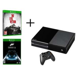 Pack console Microsoft  Xbox One 1 To + Forza 6 + The Evil Within