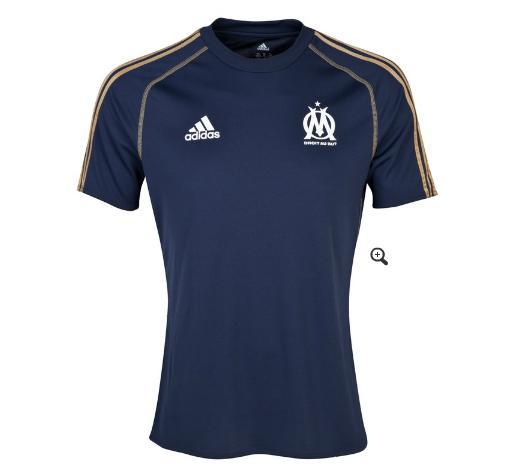 Maillot Entraînement Olympique de Marseille  Marine/Or Football Foncé (taille XS)