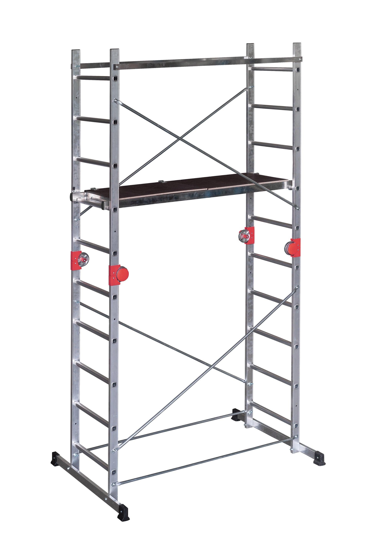 Echafaudage aluminium Hailo Combi first Fast & Lock - démontage rapide, hauteur de travail 3.8 m