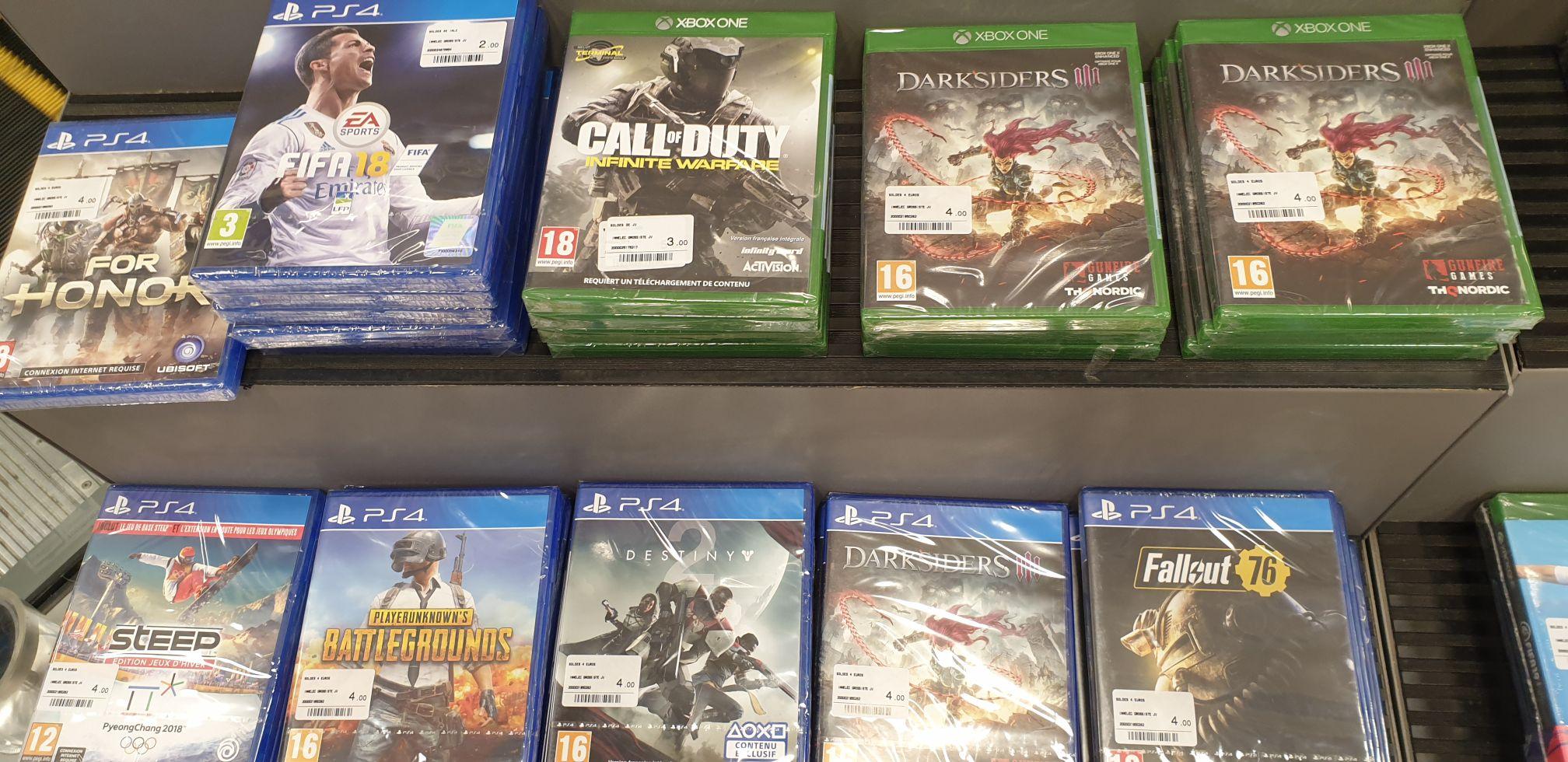 Sélection de jeux PS4 et Xbox One en promotion (Ex : Darksiders III) - Bourgoin Jallieu (38)