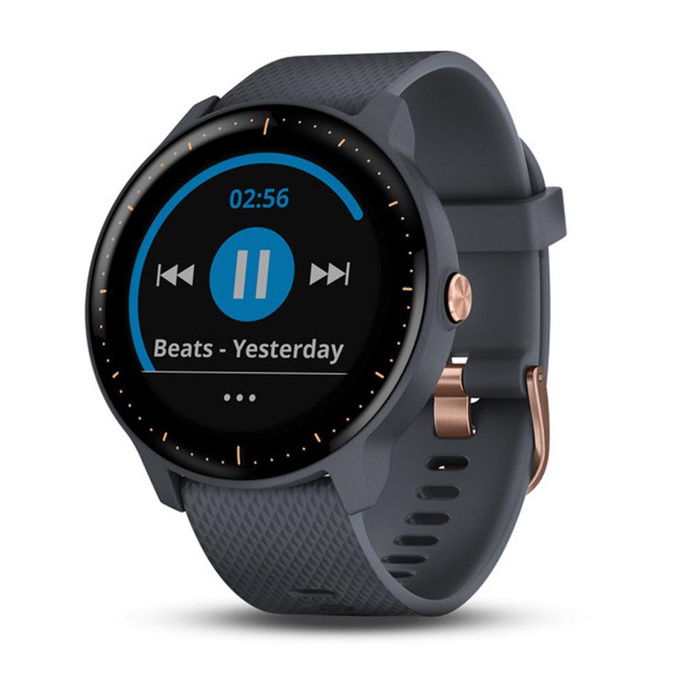 Montre GPS Vivoactive 3 Music - Bleu/Or Rose