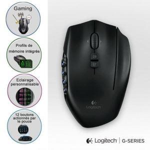 Souris gaming Logitech G600 MMO livraison incluse !! (G700 à 55€)