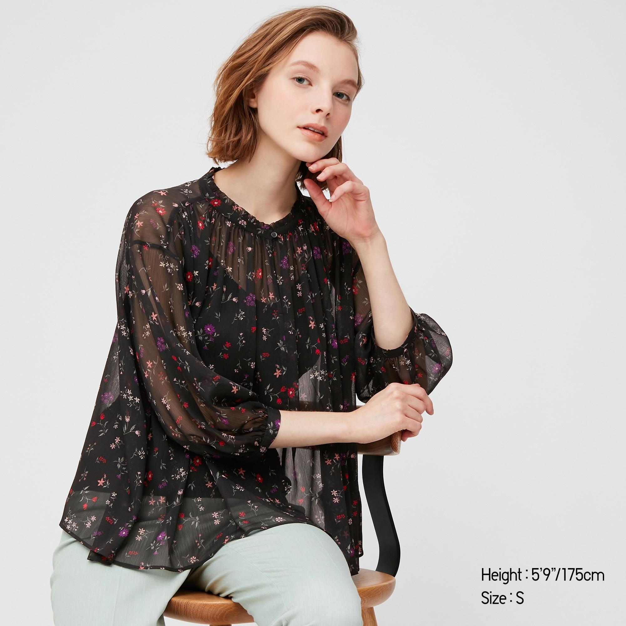 Sélection de vêtements en promotion - Ex: Blouse Print Of Joy manches 3/4 (M ou L)