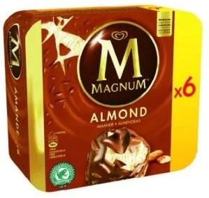 Boîte de 6 glaces Magnum - Différentes variétés