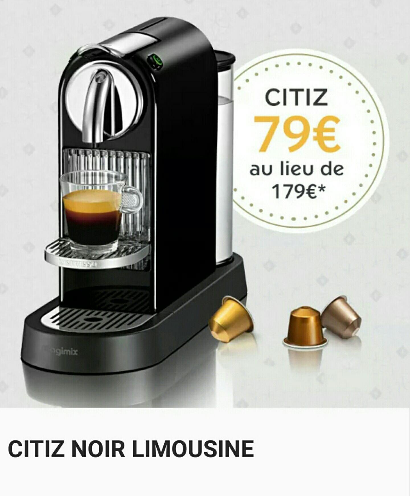 Machine à Café Nespresso Citiz - Noir à 79e et Chrome (rare et jolie) à 99e