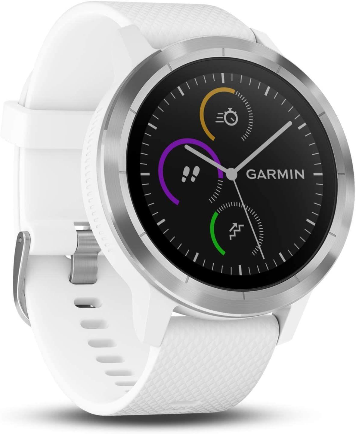 Montre connectée GPS Garmin Vivoactive 3 - Blanche (Via coupon)