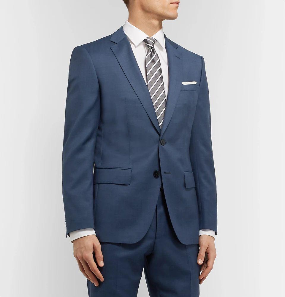 Veste de costume en laine vierge Hugo Boss - Bleue (mrporter.com)