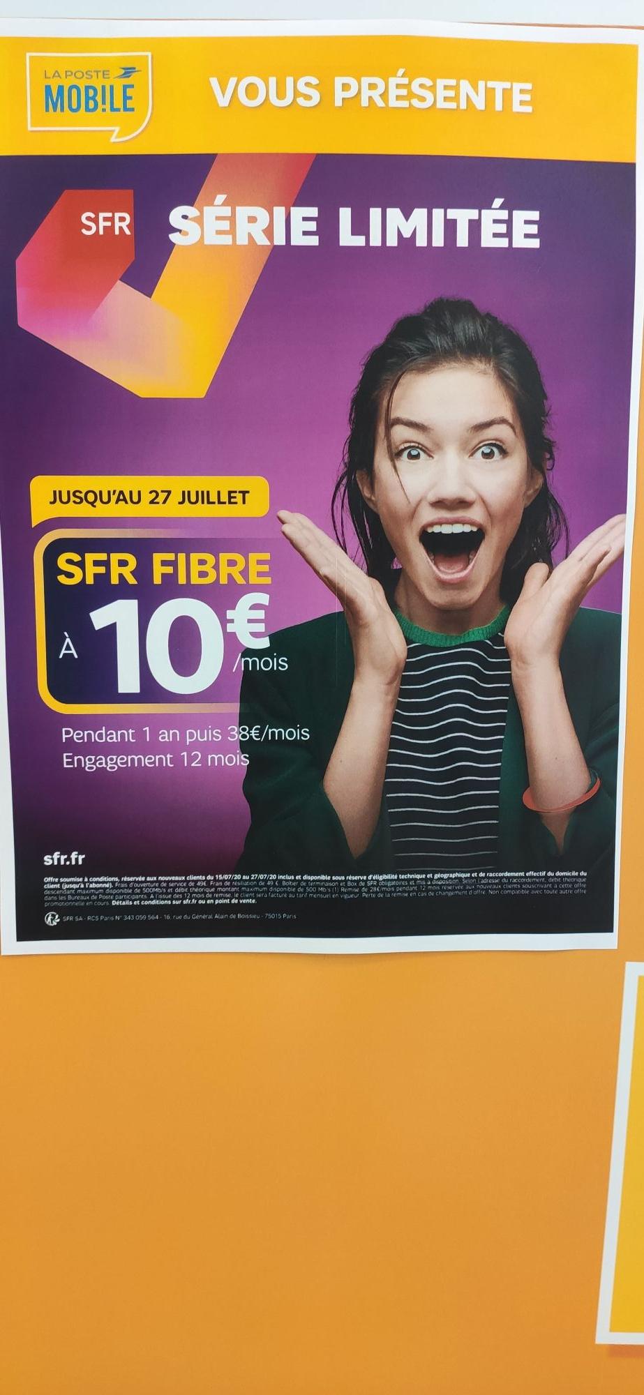 [Nouveaux Clients] Abonnement Box SFR Fibre (Pendant/Engagement 12 mois - Frais mise en service 49€)