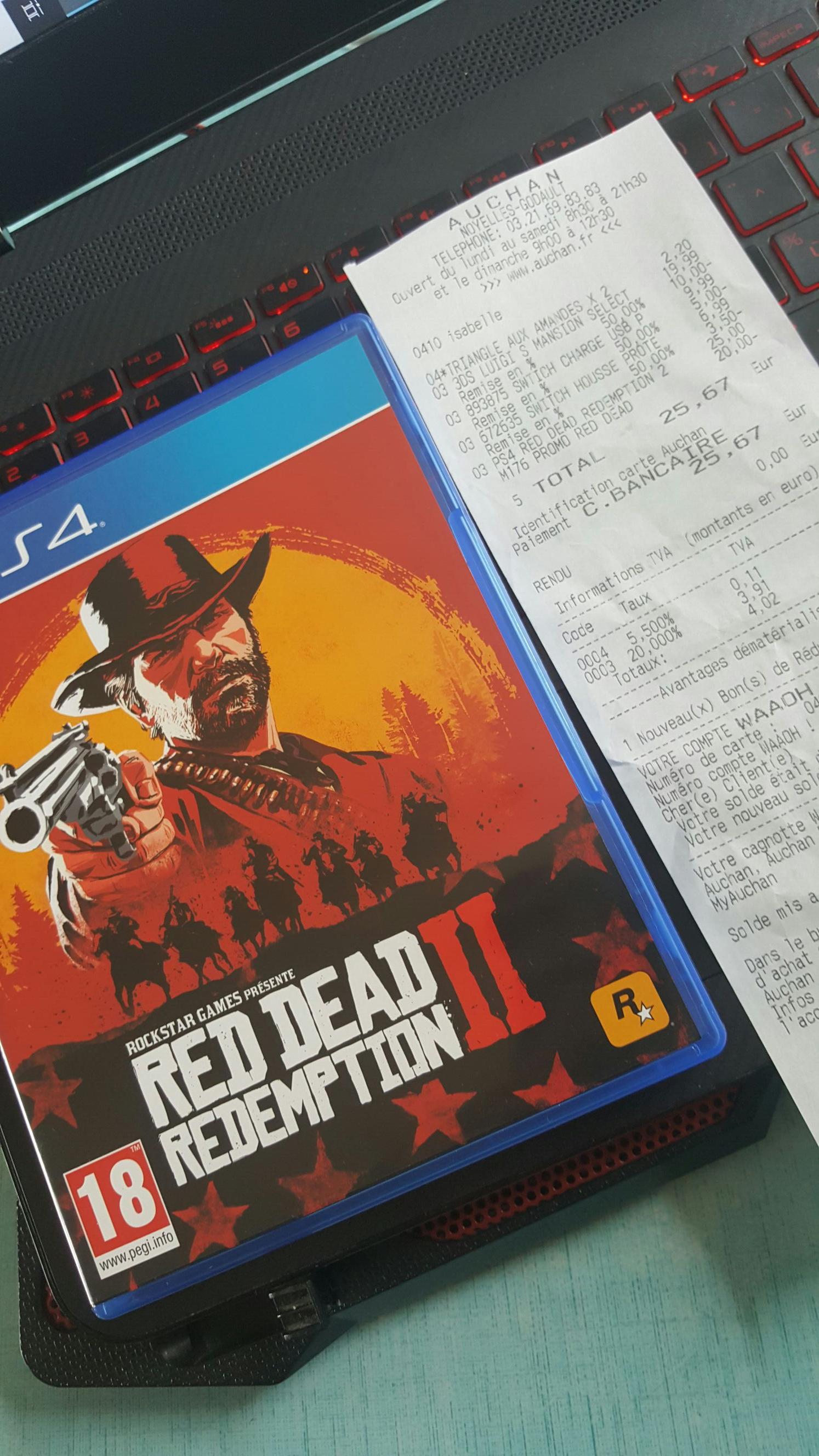 Jeu Red dead redemption 2 sur PS4 - Auchan Noyelles-Godault (62)