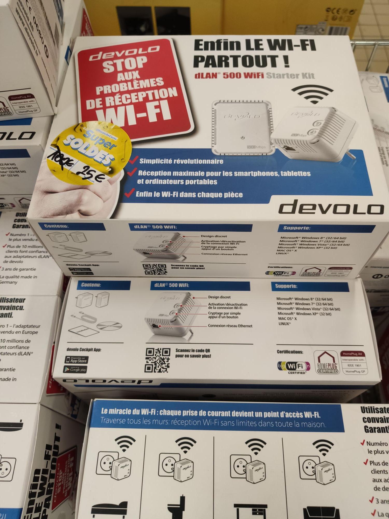 Pack de démarrage CPL Devolo dLAN 500 Wi-Fi - 2 prises CPL - Paris (75)