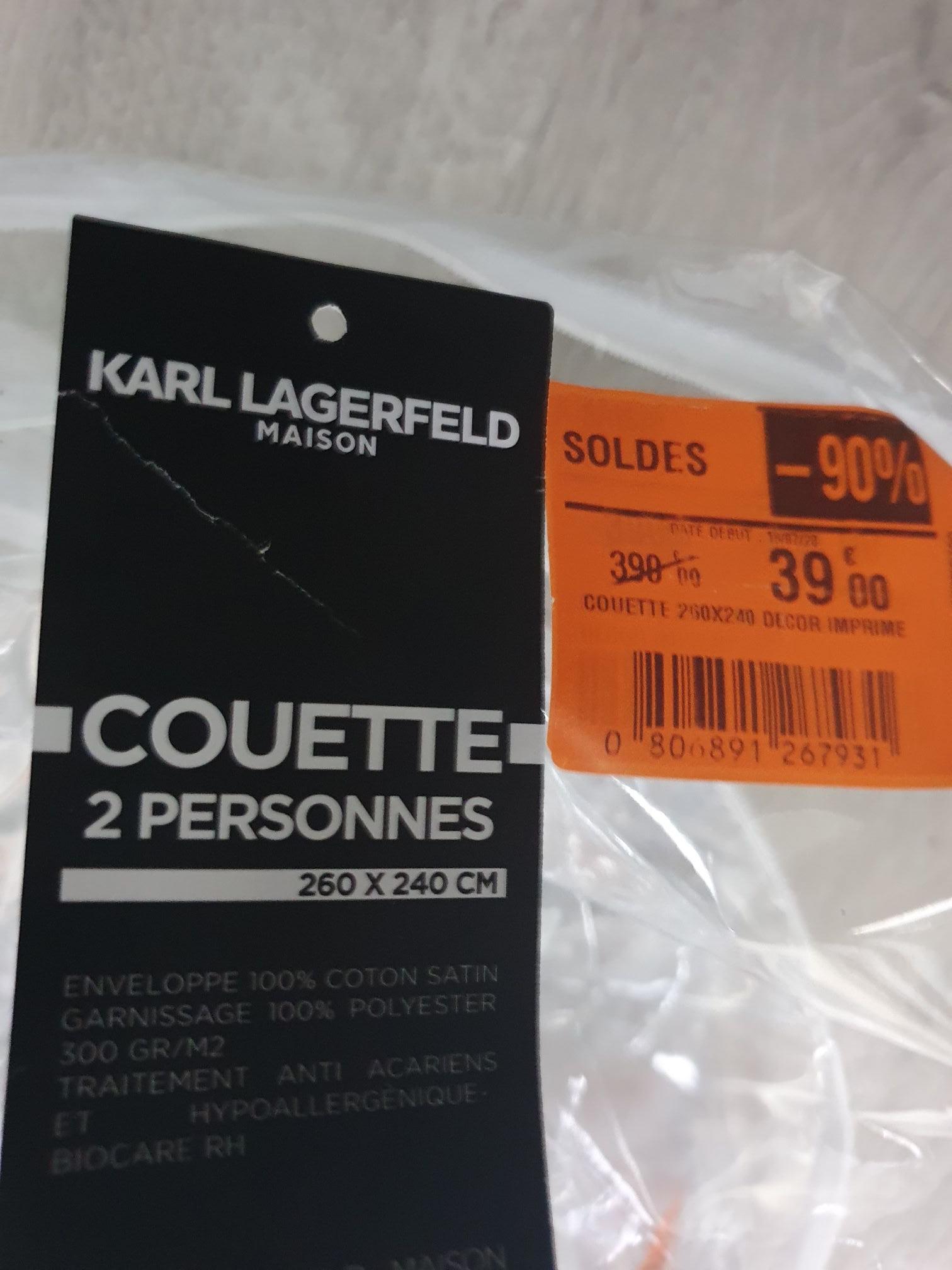 Couette 2 personnes Karl Lagerfeld (260 x 240 cm) - Colomiers (31)
