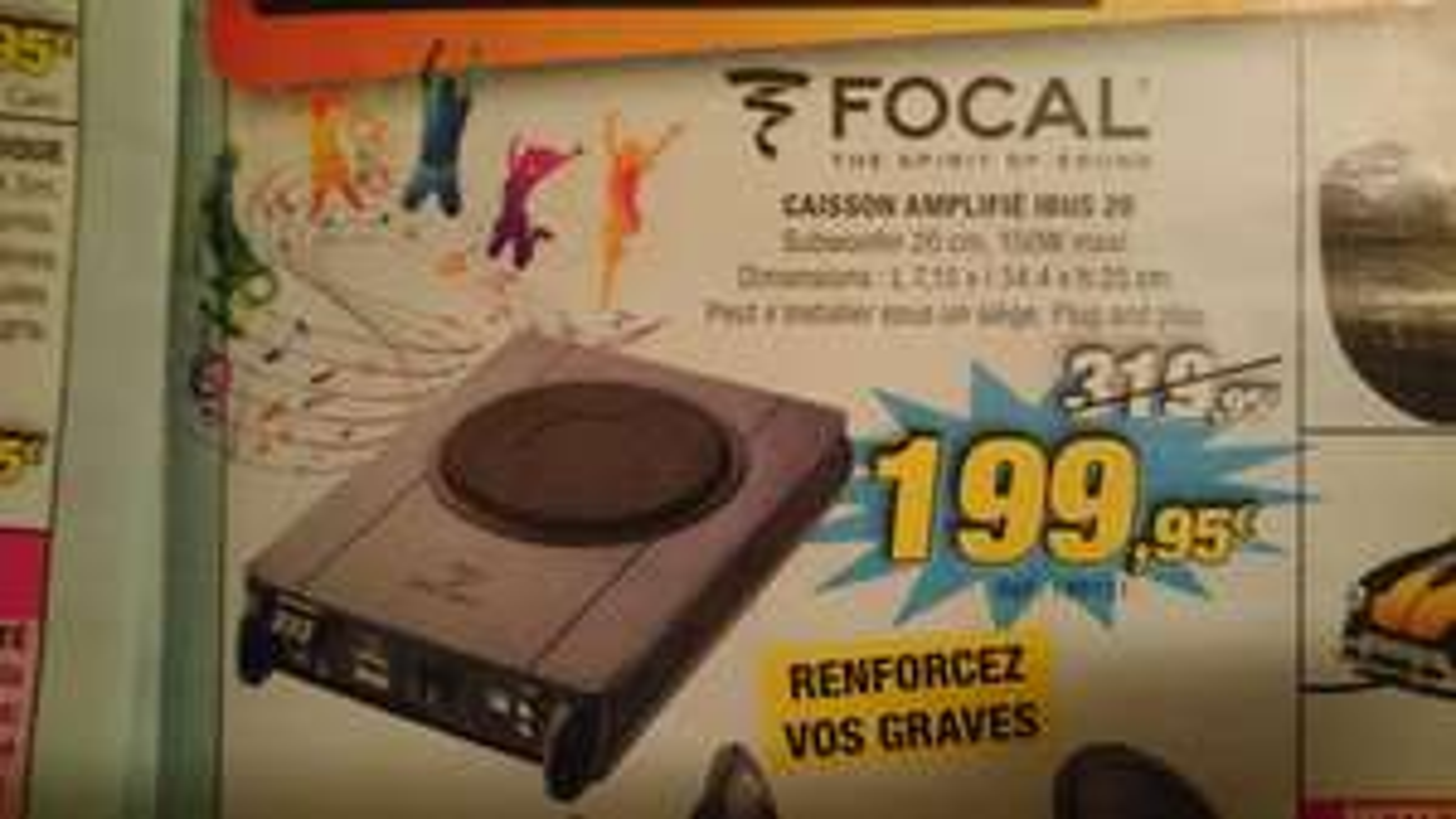 Caisson Focal IBUS 20 - Subwoofer 20cm, 150W