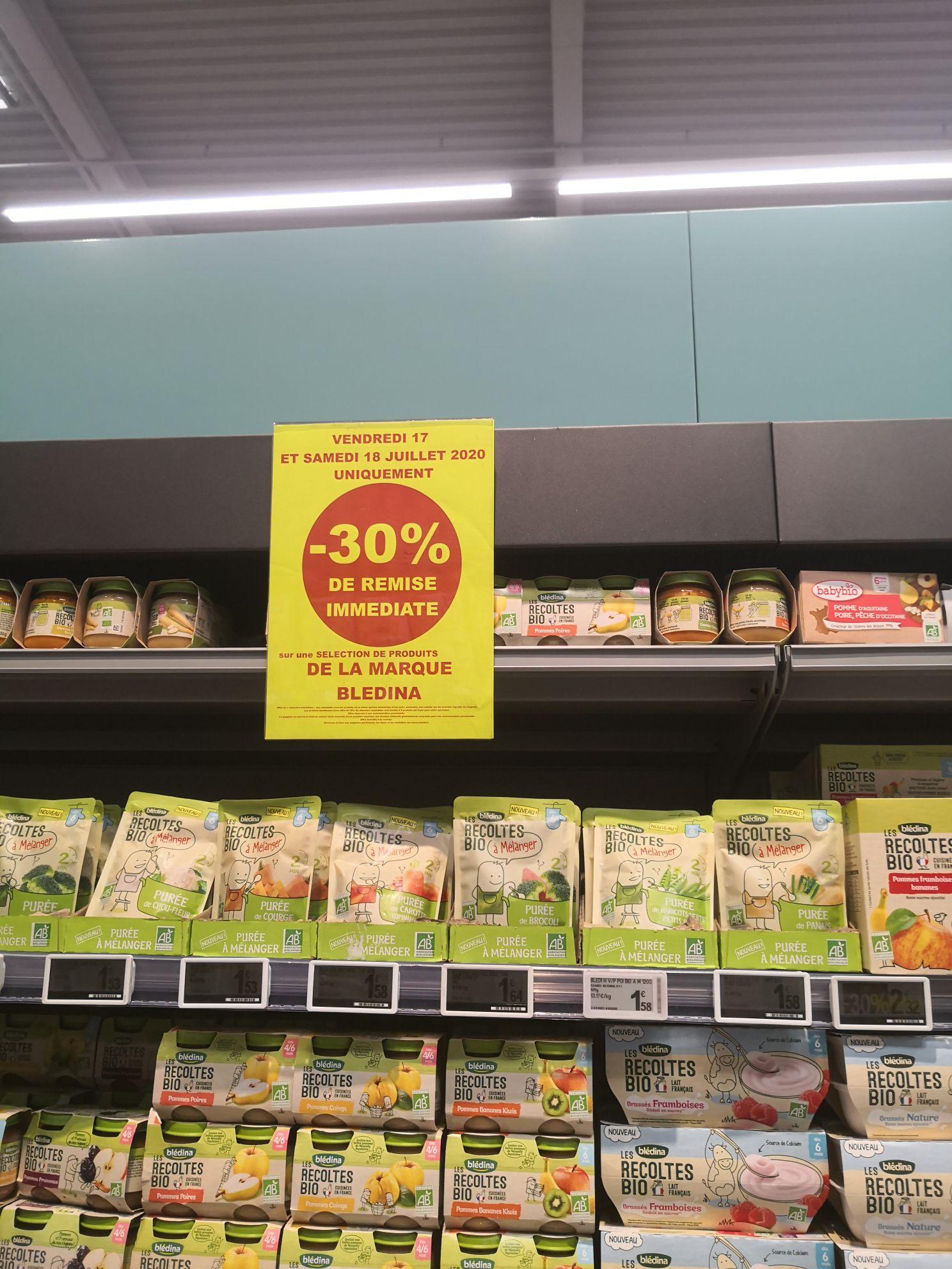 30% de remise sur une sélection de produits de la marque Bledina - Thionville (57)