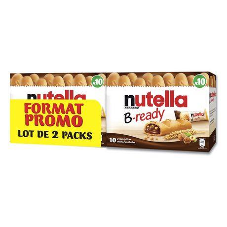 Lot de 2 pack de 20 Biscuits Kinder B-Ready au Nutella - 40 pièces (2 x 20)