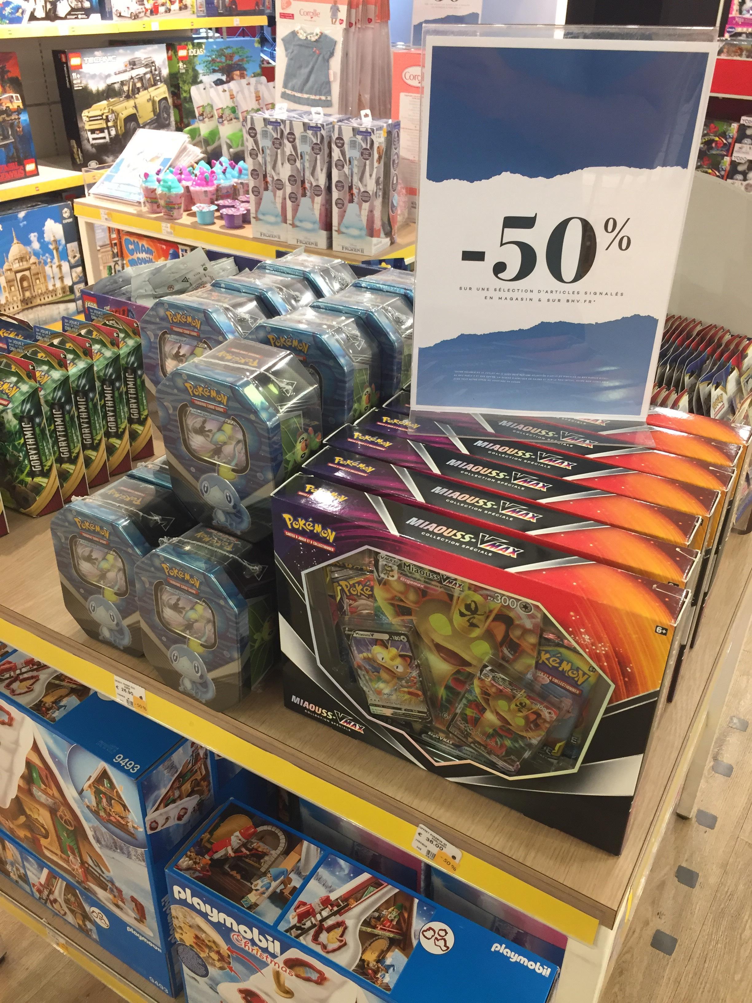 50% de réduction sur une sélection de Cartes et booster Pokémon - BHV Paris (75)