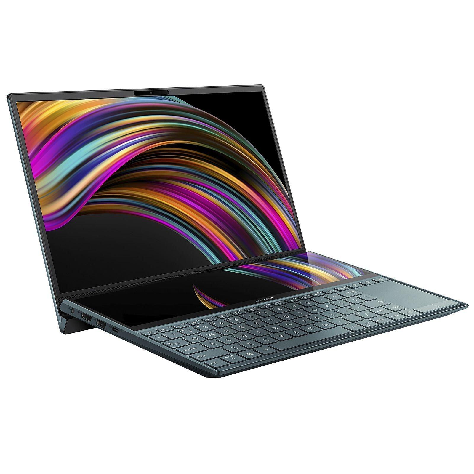 """PC Ultra-Portable 14"""" Asus ZenBook Duo UX481FA-HJ060T - Full HD, Double écran, i5-10210U, 8 Go RAM, 512 Go SSD, Windows 10"""
