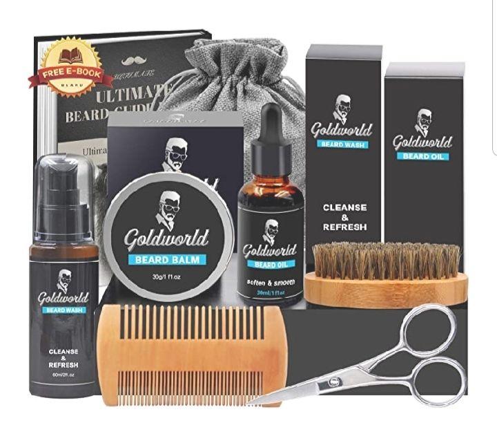 Kit de soin complet pour barbe Goldworld (vendeur tiers)