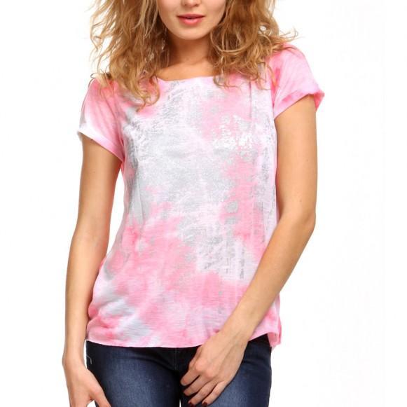 T-shirt Femme bohème avec paillettes